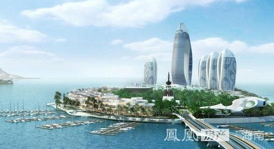 """项目介绍: 作为国际旅游岛重点规划的""""阳光海岸""""三亚核心地标,凤凰岛"""