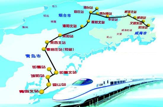 青荣城铁线路(图片来源于网络)