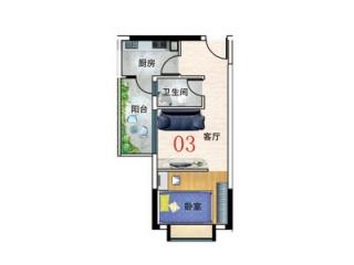 38平米一室