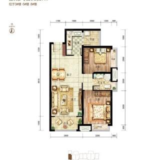 一期北区3、6、8号楼A3-a户型
