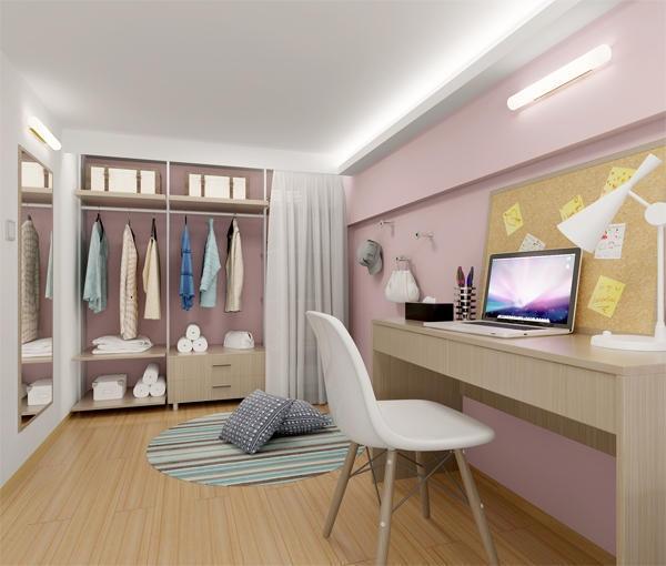 设计师在户型设计时,多方考虑了收纳与空间整合. loft公寓该如何装修
