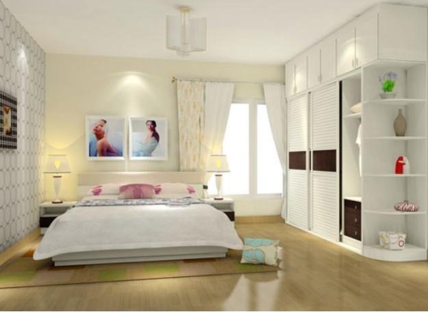 别墅卧室带卫生间带衣帽间欧式装修效果图