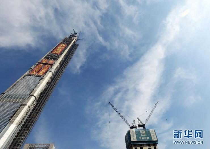 中国结构第一高楼 天津117大厦成功加冕