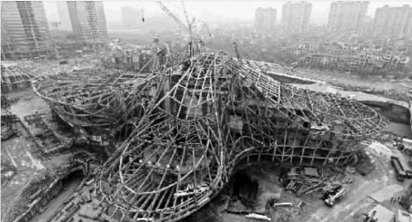 9月20日,长沙梅溪湖国际文化艺术中心工程大剧场钢结构正式封顶.