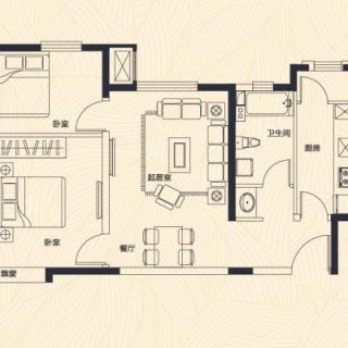 高层1、7、8号楼标准层A户型