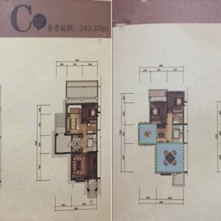 别墅三室C户型