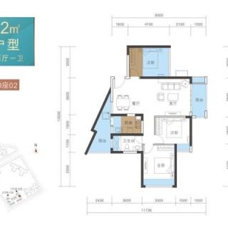 B户型82平3房2厅1卫
