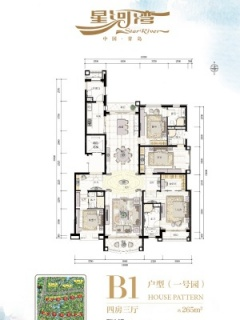 B1-4室3厅4卫-265.00㎡