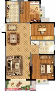 18街区B户型三室两厅两卫125平米