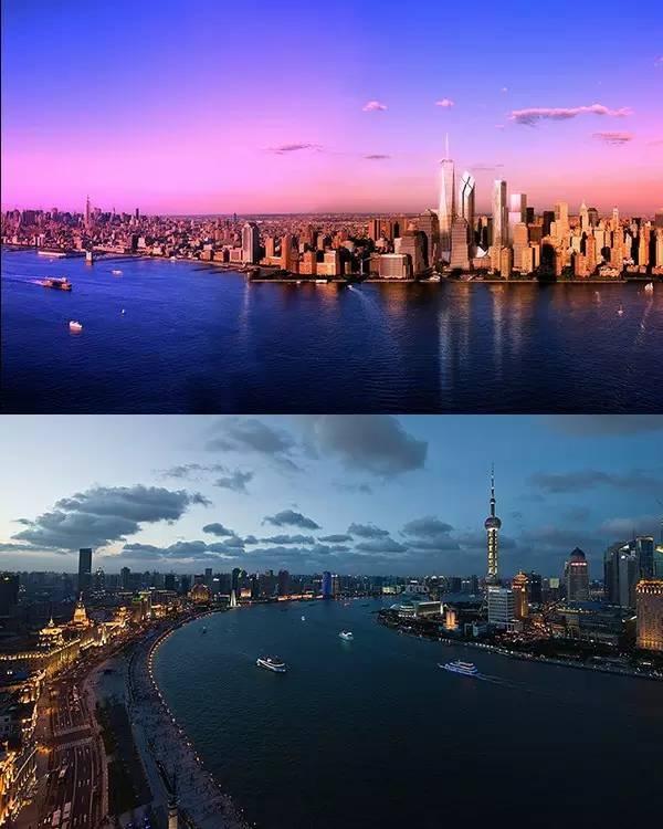 纽约长岛(上)vs上海黄浦江(下) 纽约one57——一座专为全球富豪量身