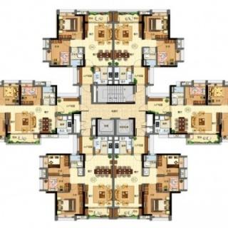 j1、18栋平面图【在售】
