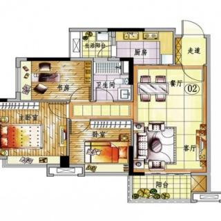 4栋A梯02单元户型图【在售】