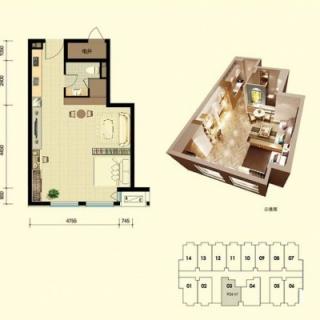 平层公寓标准层C户型