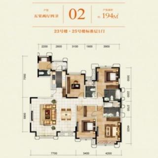 23#、25#名邑系洋房标准层02户
