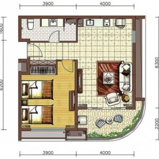 阳光假日二期养生公寓B5户型
