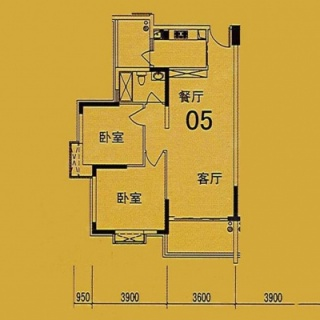 10座(F1座)05单位户型图