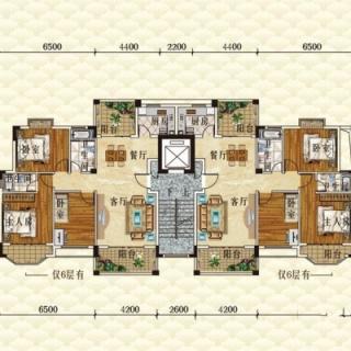洋房E1栋6层户型图平层图