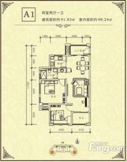 1#-A1户型图
