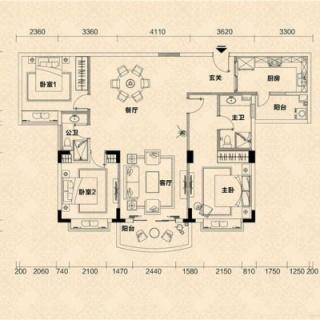 C2栋03单元户型图