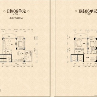 E栋06、07单元户型图