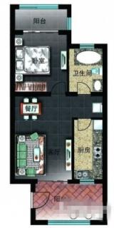 二区洋房D2户型图