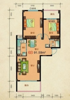 3栋5栋-03标准层户型
