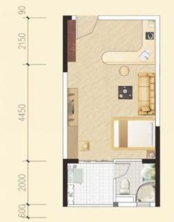 多层一房一厅户型1