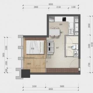 47平一室两厅一厨一卫