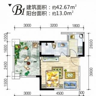 2#6层B1户型