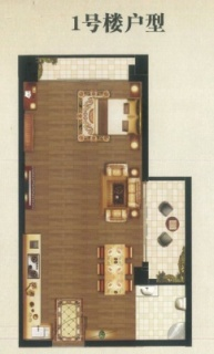 1号楼2厅2房1卫