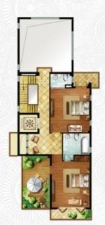 一期独栋别墅D3户型二层