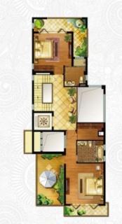 一期独栋别墅D1户型二层