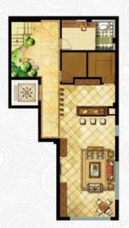 一期独栋别墅D1户型地下一层