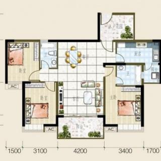 2号房户型图