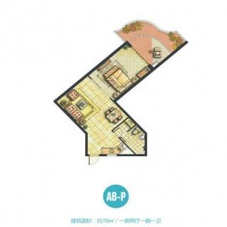 船长公寓AB-P户型图