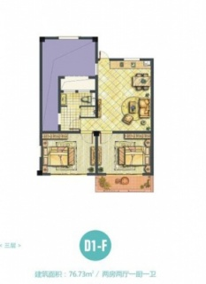 D1-F海子洋房户型图