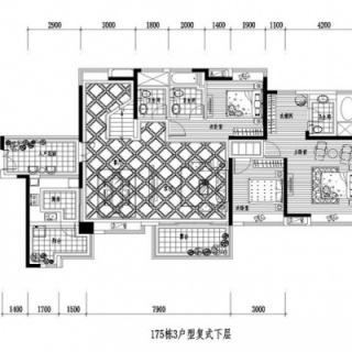 175栋3户型复式下层