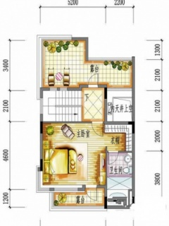 一期别墅B户型三层