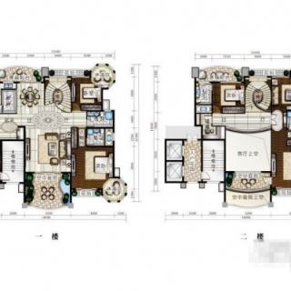 一期(别墅)五室二厅四卫户型2