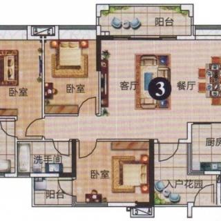 3、4栋标准层04户型