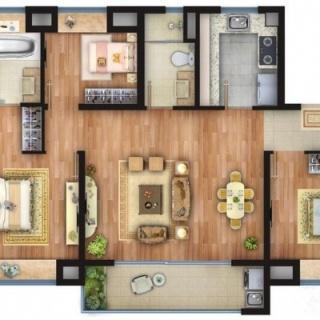 107平三室两厅一厨2卫