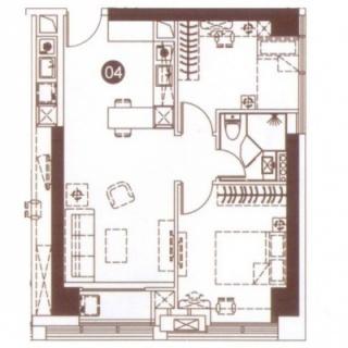 公寓04单元91㎡