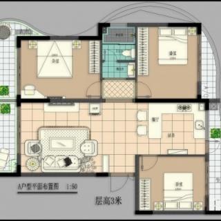 A号楼3房2厅A户型