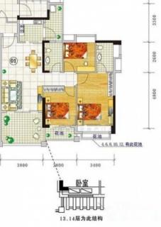 三期城中荟顺景阁A栋2~14层01单位