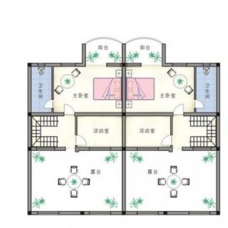 联排别墅三层平面图