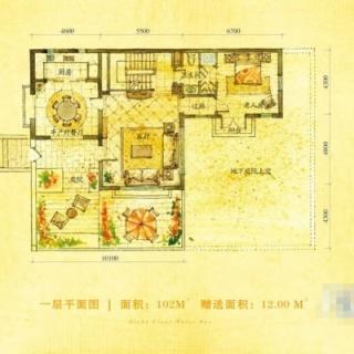 别墅B户型159.5㎡地上一层