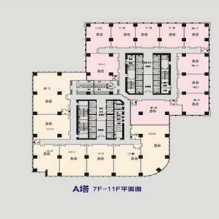 永和龙子湖中央广场a塔7-11层平面图