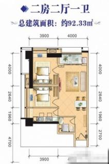 4#、8#2室2厅92.33㎡户型