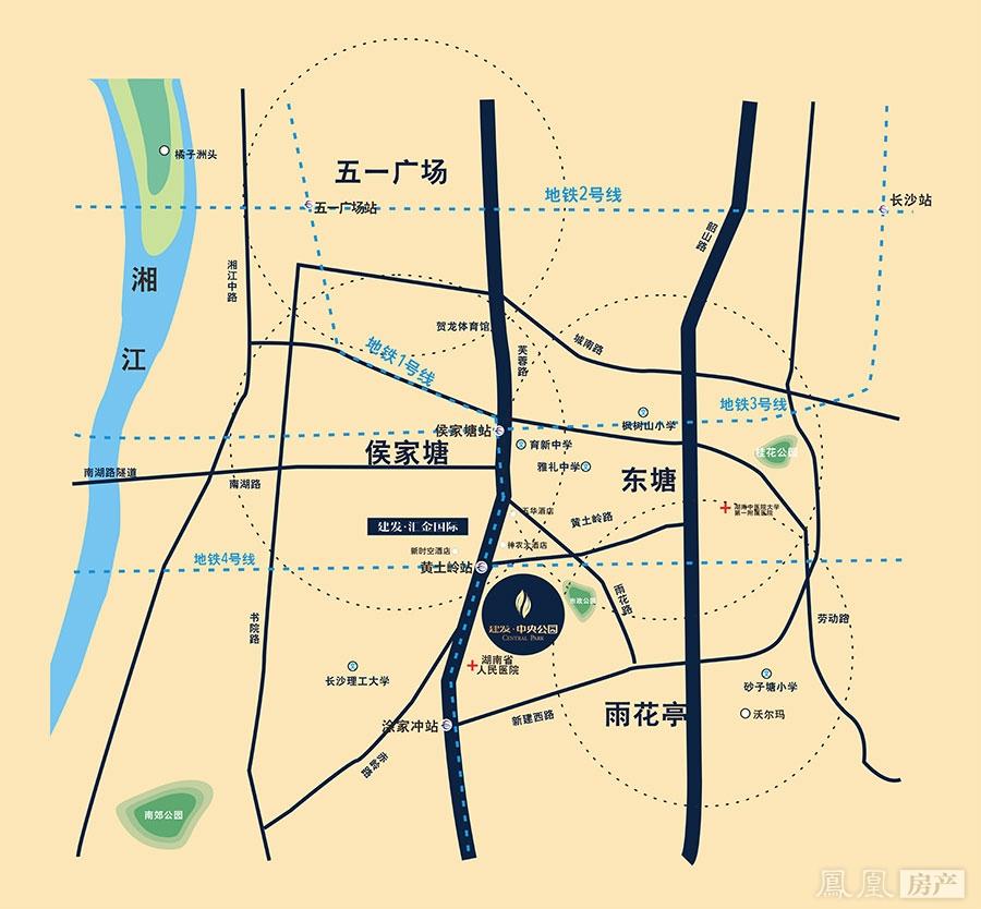 建发中央公园规划图2