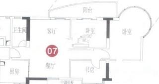 A7栋8-31层07单元户型